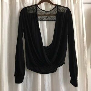 Blue life black blouse
